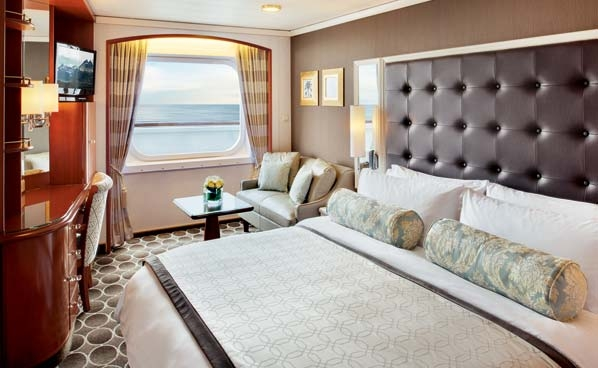 Deluxe Stateroom with Large Picture Window Slightly Limited View