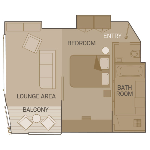 Royal One-Bedroom Suite
