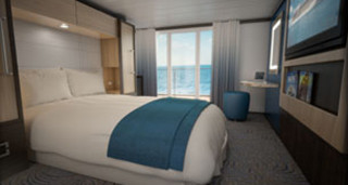 Deluxe Studio Ocean View Stateroom with Balcony