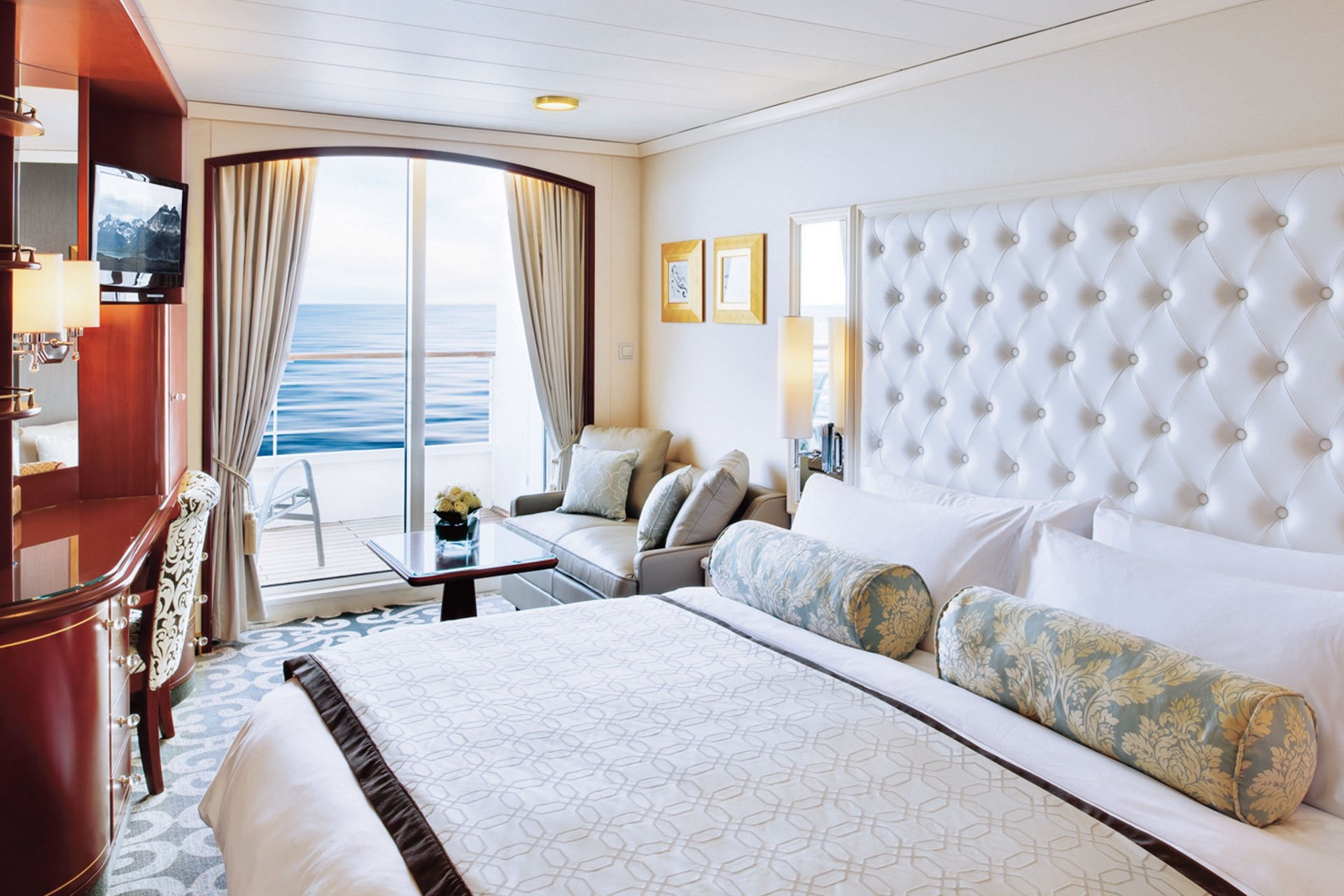 Deluxe Stateroom with Verandah Slightly Limited View
