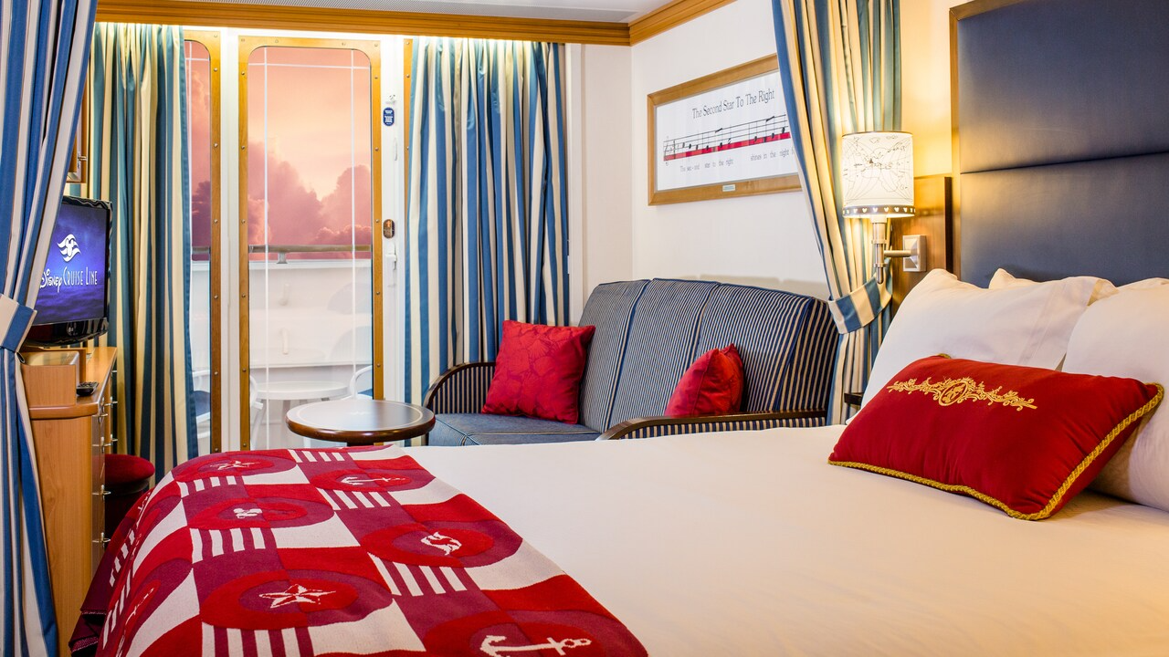 Deluxe Oceanview Stateroom with White Wall Verandah – Accessible – [06A]