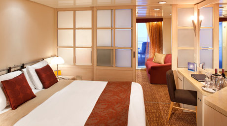 Large Ocean View Stateroom with Veranda