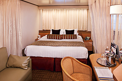 Large Ocean view Stateroom (Fully Obstructed View)