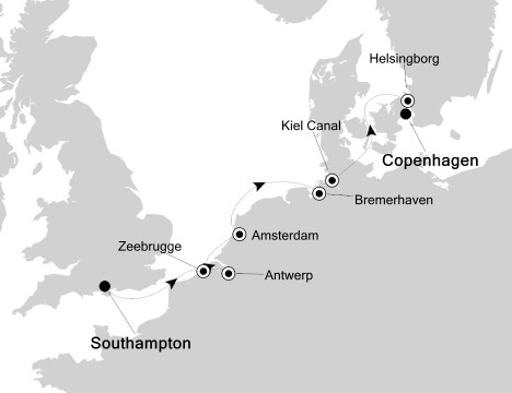 7 Night Northern Europe Cruise onboard Silver Whisper