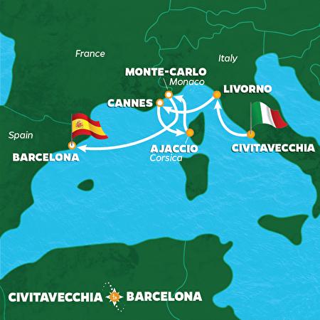8 Night Monaco Grand Prix & Cannes Cruise