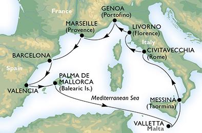 France, Spain, Malta, Italy