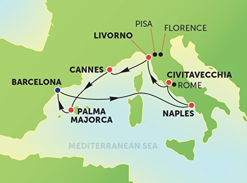 Western Mediterranean from Barcelona