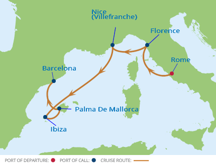 11 Night Western Mediterranean Fly-Cruise Package