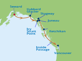 10 Night Alaska Southern Glacier Fly Cruise Package