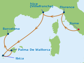 7 Night Italy, France & Spain Cruise