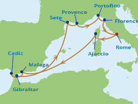 11 Night Spain, France & Italy Cruise