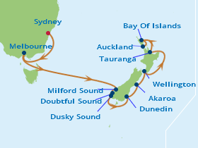 14 Night New Zealand Fly, Cruise & Stay Package