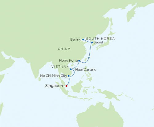 Singapore to Tianjin