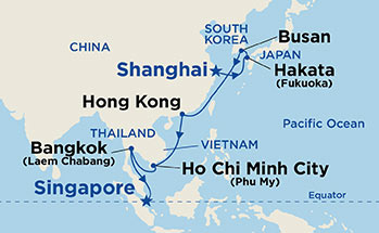 14 Night Majestic Grand Asia Cruise