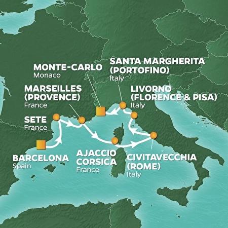 7 Night Spain, France & Tuscany Cruise