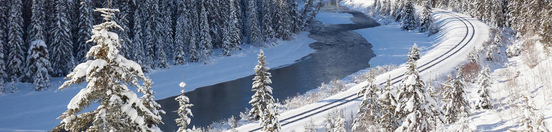 Railway in the Canadian Rockies