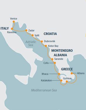 RAC President's Cruise 2016 MAP
