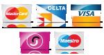 Mastercard, Delta, Visa, Solo, Maestro