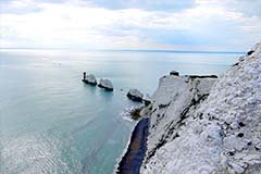 chalk cliffs known as The Needles