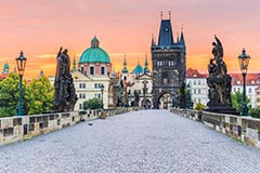 Charles Bridge in Prague, Czech Republick