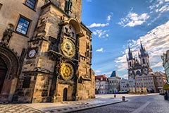 Old Town and Astronomical Clock in Prague, Czech Republick
