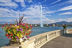 Jet d'Eau on the Lake Geneva, Switzerland