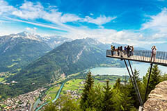 The observation deck in Interlaken, Switzerland