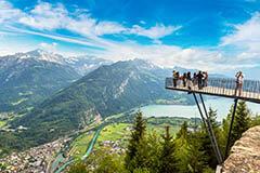 The observation deck in Interlaken, Switzerland
