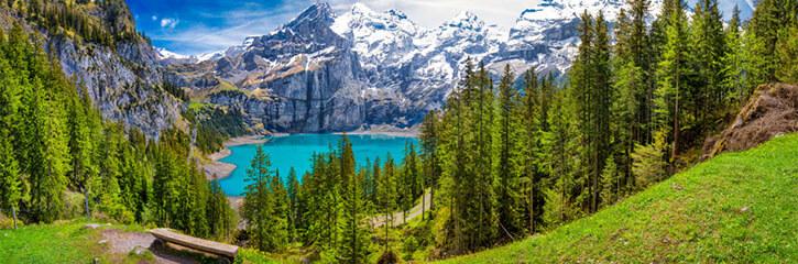 Mountains and lake, Switzerland