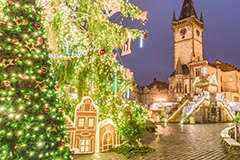 Christmas Tree in Old Town Prague, Czech Republick