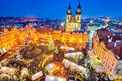Christmas market square Prague, Czech Republick