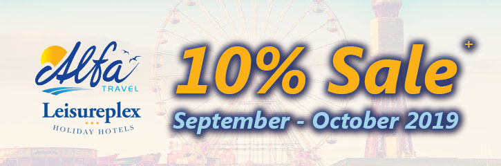 Alfa Travel - 10% Sale - Sept to Oct 2019