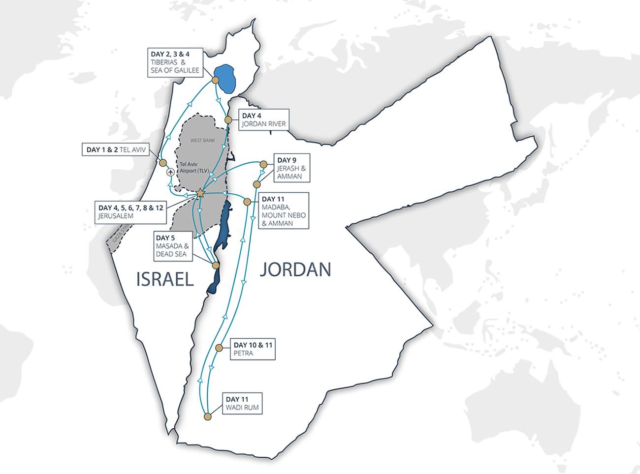 Israel Jordan Guided Tour Israel Jordan Cyplon Holidays