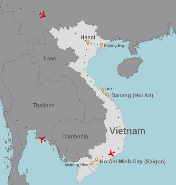 Vietnam Cruise and Tour itinierary