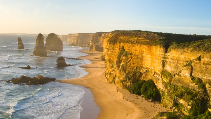 Australia and New Zealand cruises coastline