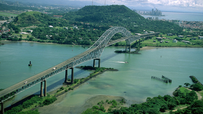 Panama Canal cruises; bridge