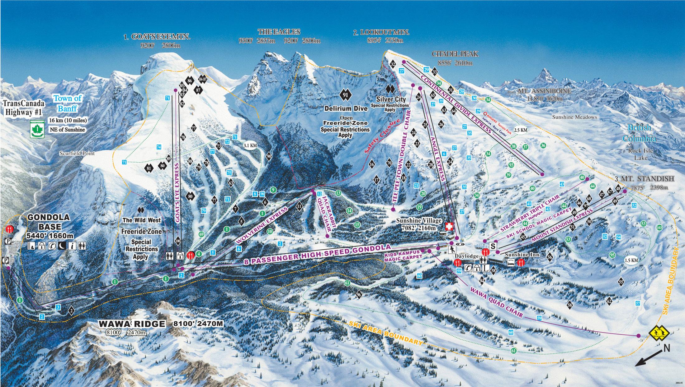 Banff piste map
