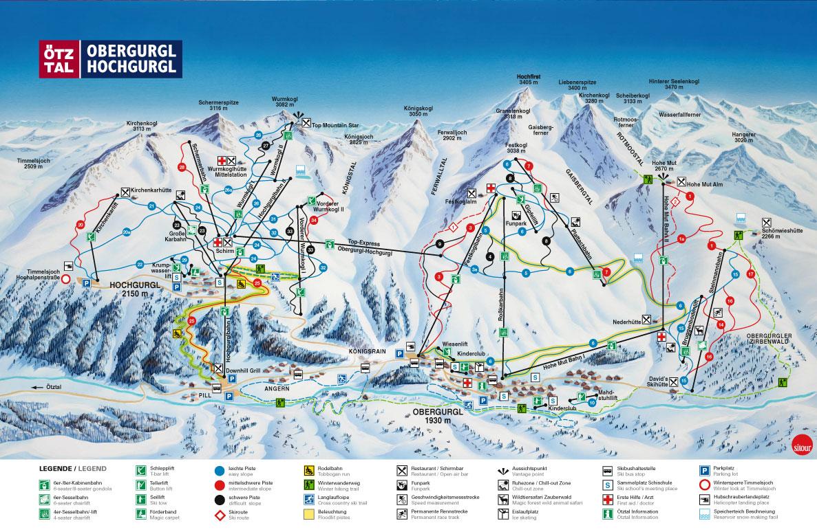 Obergurgl piste map