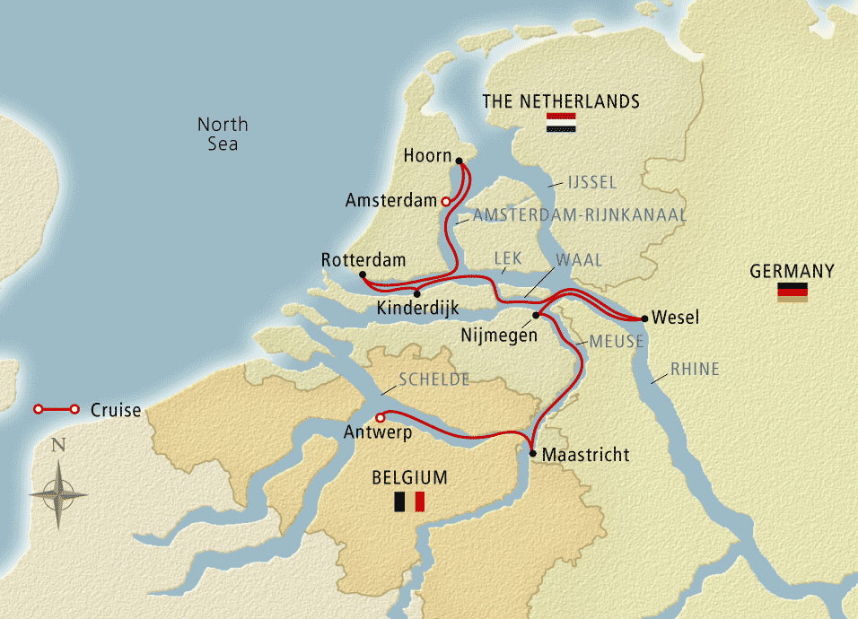 Holland and Belgium in Bloom Map
