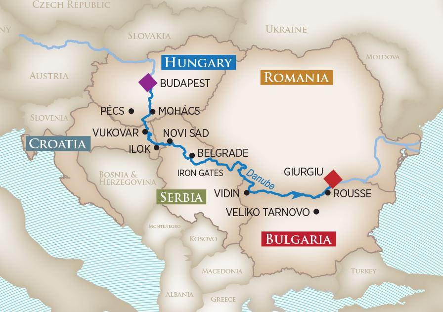 Southeast Europe Map
