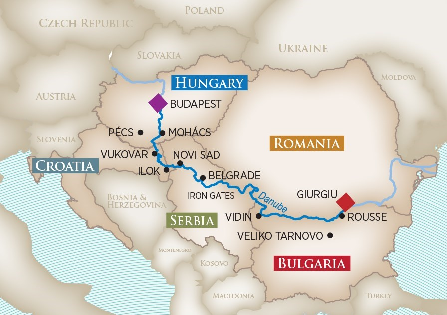 Gems of Southeast Europe Map