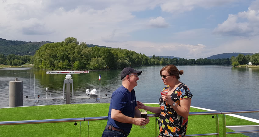 Phil, RiverCruising.co.uk 's Managing Director, & Wife, Paula