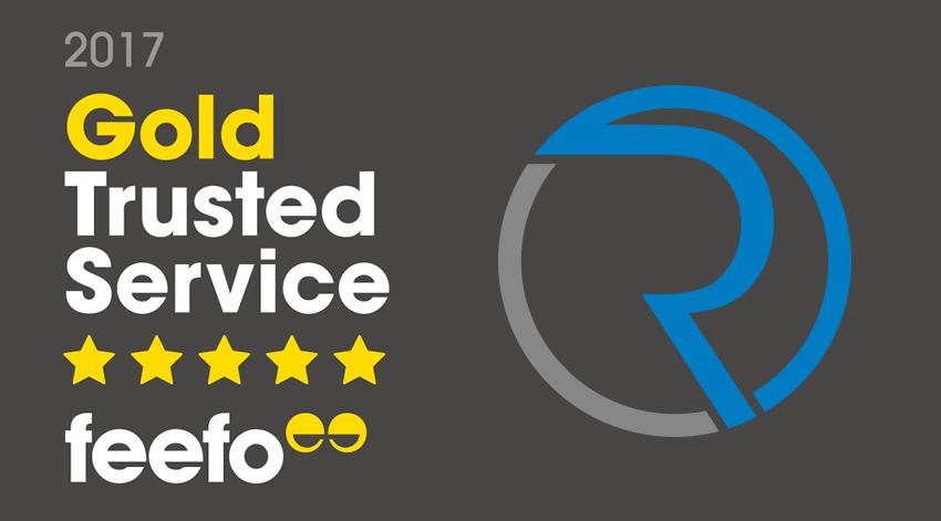 RiverCruising awarded Feefo gold trusted service award