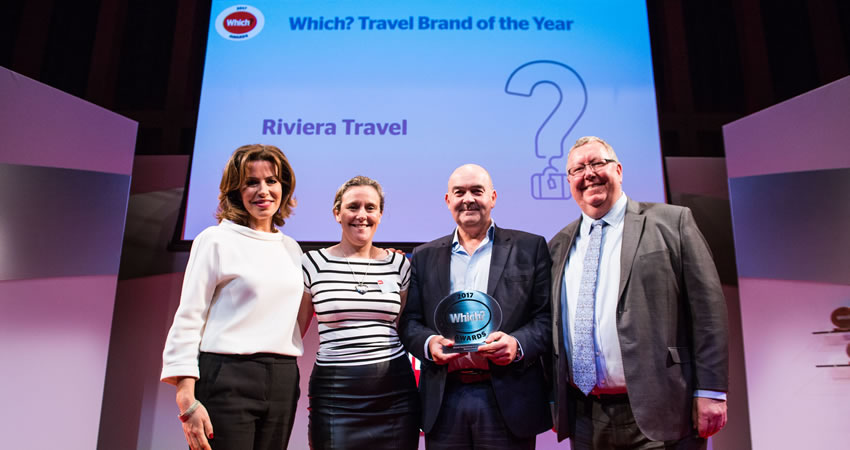 Riviera Travel collect their Which? Travel Brand of the Year award