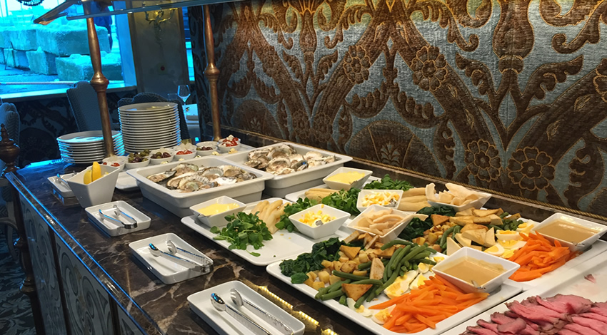 Uniworld SS Maria Theresa Buffet Lunch