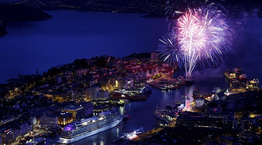 Viking Star Christening Fireworks