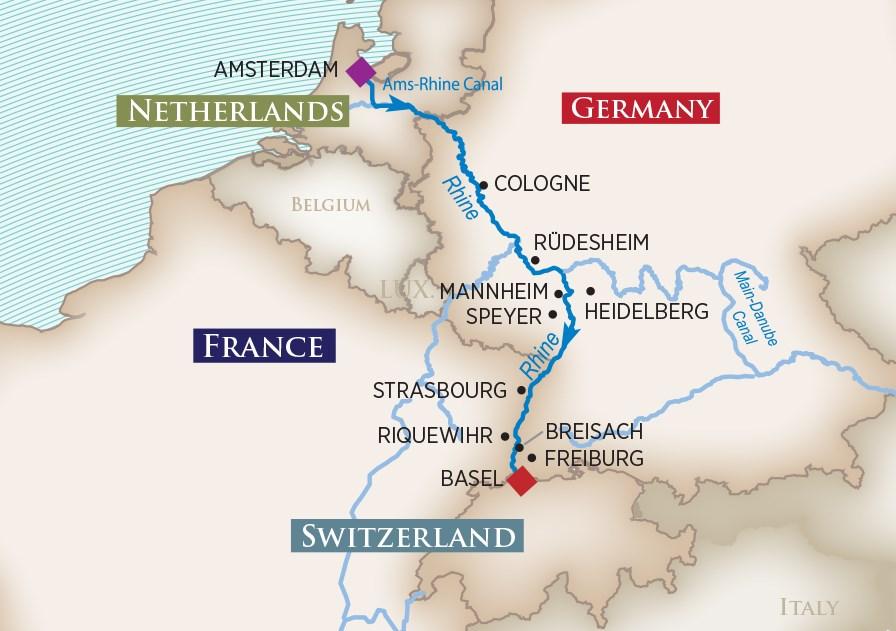 Captivating Rhine Map