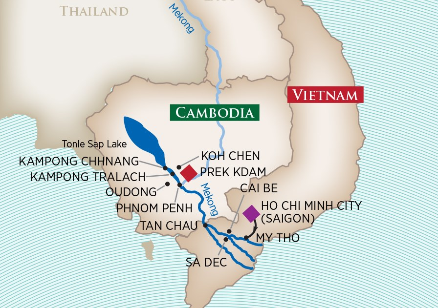 Charms of the Mekong Map