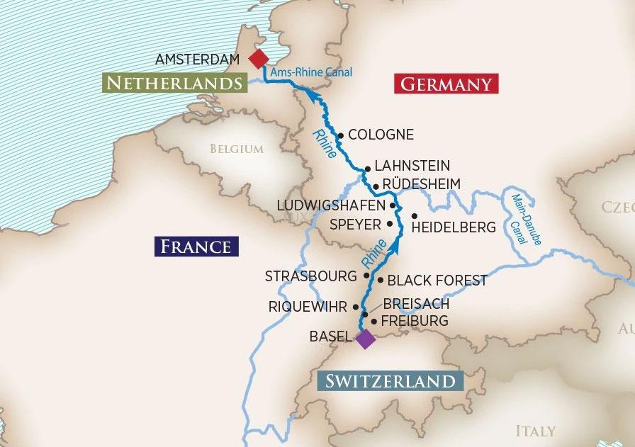 Enchanting Rhine Map