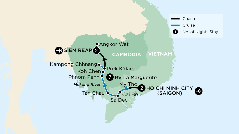 Vietnam & Cambodia Map